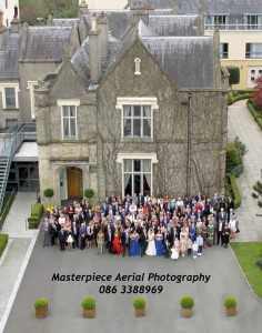 Aerial Wedding Photo