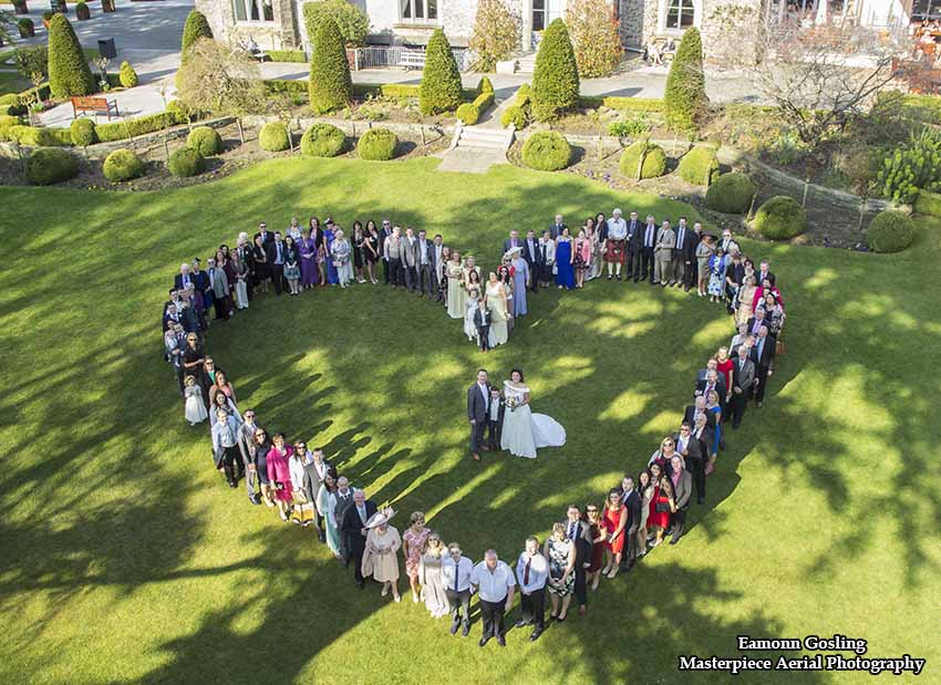 Wedding Heart aerial