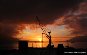 sunset in greenore 2nd visit red